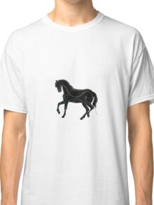 Horse - Three Line Art Classic T-Shirt