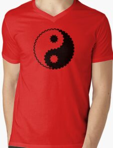 Yin and Yang - Gearwheel Mens V-Neck T-Shirt