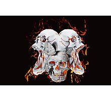 Flaming skulls Photographic Print