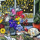 Lemon tree and still life by maria paterson