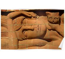 Brick Lady Sculpture Delapre Northampton Northamptonshire Poster