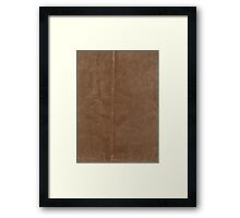 Brown Leather Framed Print