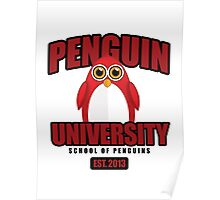 Penguin University - Red Poster
