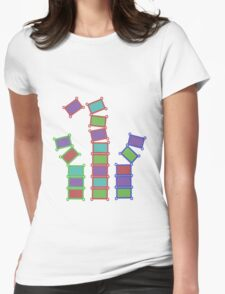 Falling Blocks Womens Fitted T-Shirt