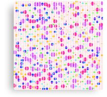 Colorful Dots on Pink Canvas Print