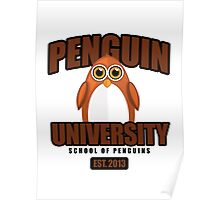 Penguin University - Brown Poster