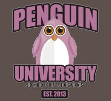 Penguin University - Pink 2 Kids Clothes