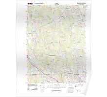 Massachusetts  USGS Historical Topo Map MA Blackstone 20120611 TM Poster