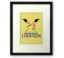 Weapons of mass creation - Yellow Framed Print