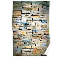 Color Layered Bricks Poster