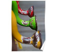 Colored Pipes Poster