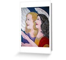 Angels singing on high Greeting Card