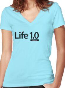 Life 1.0 (Full Version) Women's Fitted V-Neck T-Shirt
