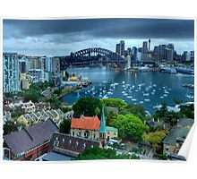 Morning View - Sydney Harbour, From North Sydney - The HDR Experience Poster