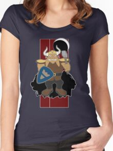 Dwarf Rabbit will rip out your spine Women's Fitted Scoop T-Shirt