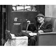 Old man in chair  Photographic Print