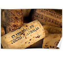 Clare Valley bottle cork Poster