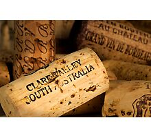 Clare Valley bottle cork Photographic Print