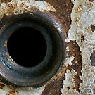 Old Grungy Door Knob Frame by Laney Lane