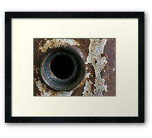 Old Grungy Door Knob Frame Framed Print