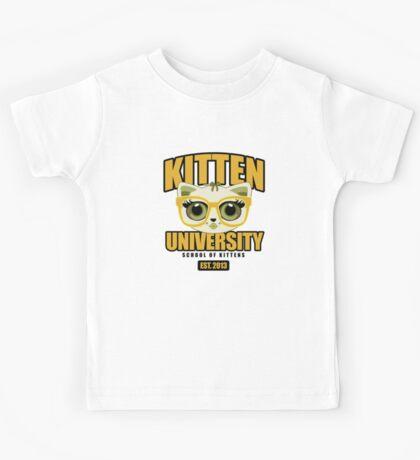 Kitten University - Yellow Kids Tee