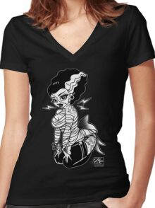 Miss Frankie Pinup Women's Fitted V-Neck T-Shirt