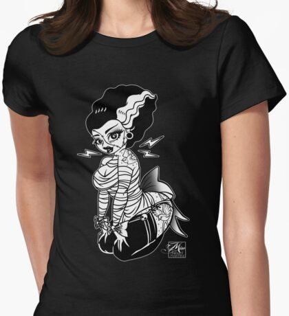Miss Frankie Pinup Womens Fitted T-Shirt