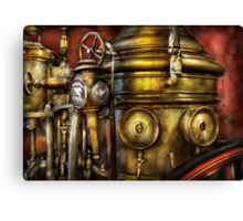 Fireman - The Steam Boiler  Canvas Print