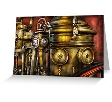 Fireman - The Steam Boiler  Greeting Card