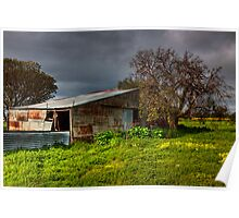 Old Shed - Leopold - Geelong Poster