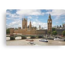 The Palace of Westminster Canvas Print