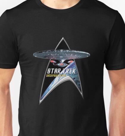 StarTrek Command Silver Signia Enterprise 1701 D  3 Unisex T-Shirt