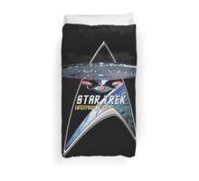 StarTrek Command Silver Signia Enterprise 1701 D  3 Duvet Cover