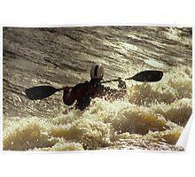 Kayaking on the Thames Poster