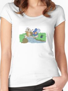 Cubone and Mudkip Women's Fitted Scoop T-Shirt