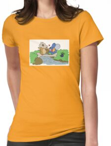 Cubone and Mudkip Womens Fitted T-Shirt