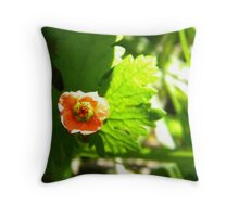 Ever seen a flower look happy before? Throw Pillow