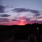 Strange sky over Grainan - Donegal Ireland  by mikequigley