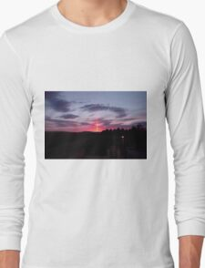 Strange sky over Grainan - Donegal Ireland  Long Sleeve T-Shirt