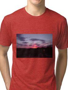 Strange sky over Grainan - Donegal Ireland  Tri-blend T-Shirt