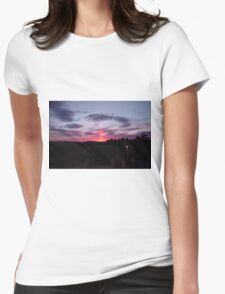 Strange sky over Grainan - Donegal Ireland  Womens Fitted T-Shirt