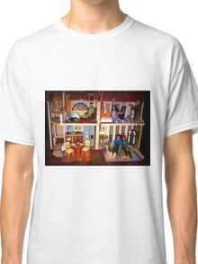 DOLLS IN DOLL HOUSE PICTURE and OR CARD,KIDS TRAVELS MUGS,DOLLS DOLL HOUSE DECORATIVE PILLOW AND OR TOTE BAG Classic T-Shirt