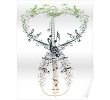 Guitar and Music Notes 9 Poster