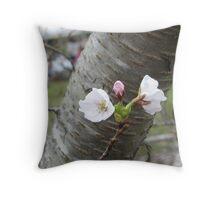 First Blossum Throw Pillow