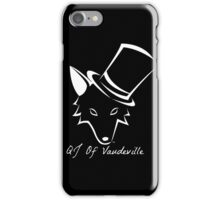 "The QJ Of Vaudeville ""Coyote"" Black and White iPhone Case/Skin"