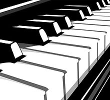 Piano Keyboard no2 by ArtPrints