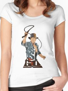 Indiana Jones Women's Fitted Scoop T-Shirt