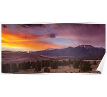 SUNSET ON THE DUNES Poster