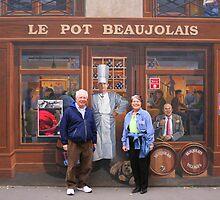 Le Pot Beaujolais Storefront Mural by Laurel Talabere