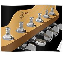 Electric Guitar Head Poster